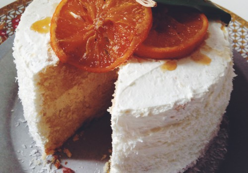 Orange Cream Cake simple white